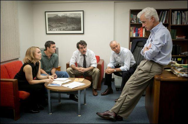 Spotlight - Rachel McAdams, Mark Ruffalo, Brian d'Arcy, Michael Keaton and John Slattery
